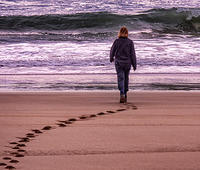 3rd. Place - Walking to the waves - By Graham Harlin